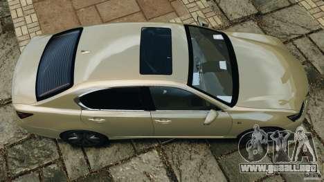 Lexus GS350 2013 v1.0 para GTA 4 visión correcta