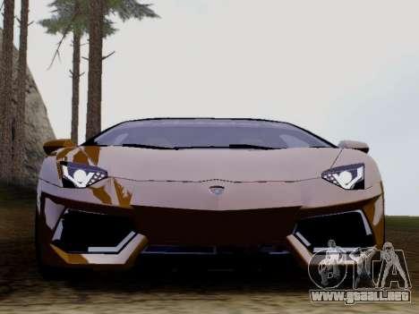 Lamborghini Aventador LP700-4 Vossen para GTA San Andreas left