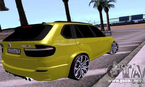 BMW X5M oro para GTA San Andreas left