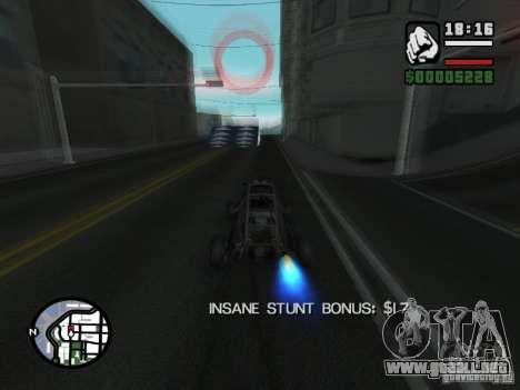 Salón del automóvil para GTA San Andreas octavo de pantalla