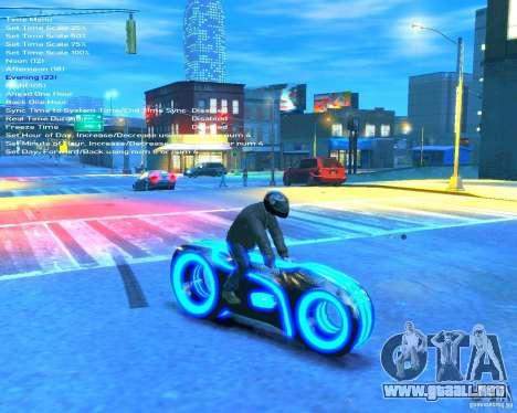 Motocicleta del trono (azul neón) para GTA 4 visión correcta