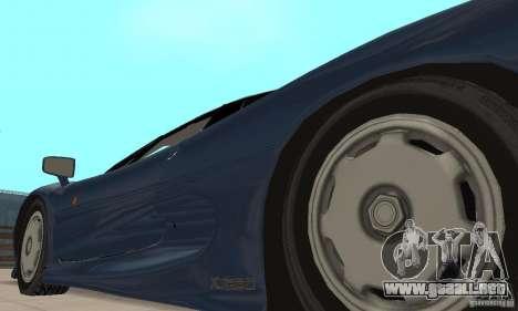 Jaguar XJ220 para visión interna GTA San Andreas