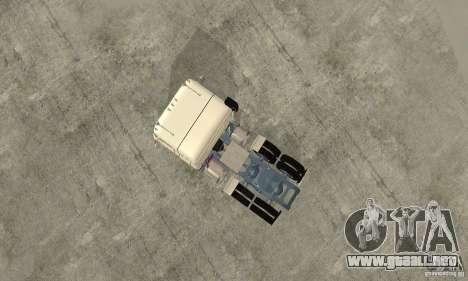International Transtar II Custom 1975 para GTA San Andreas vista hacia atrás