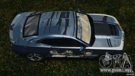 Chevrolet Camaro ZL1 2012 v1.0 Smoke Stripe para GTA 4 visión correcta