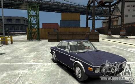 BMW 3.0 CSL E9 1971 para GTA 4 vista hacia atrás