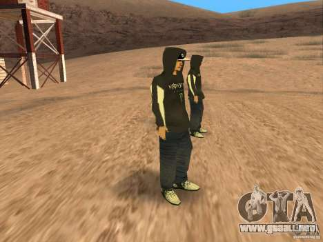 Ken Block Family para GTA San Andreas sucesivamente de pantalla