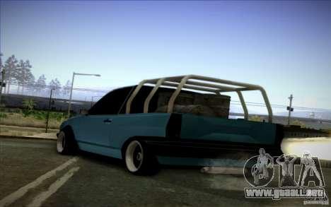 Volkswagen Polo Pickup para GTA San Andreas vista posterior izquierda