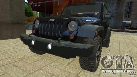 Jeep Wrangler Rubicon 2012 para GTA 4 visión correcta
