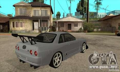 Nissan Skyline GT R R32 para la visión correcta GTA San Andreas