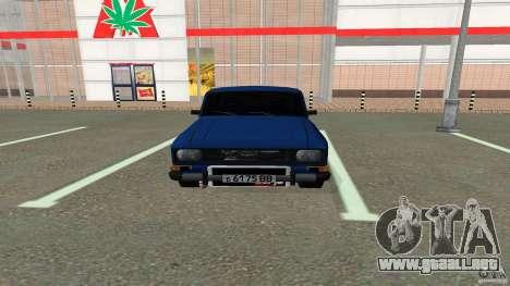 Moskvich 2140 para GTA San Andreas vista posterior izquierda
