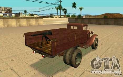 GAZ-AA para GTA San Andreas vista posterior izquierda