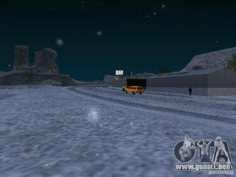 Nieve para GTA San Andreas novena de pantalla