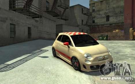 Fiat 500 Abarth Esseesse V1.0 para GTA 4 vista hacia atrás