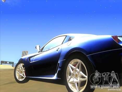 Ferrari 599 GTB Fiorano para visión interna GTA San Andreas