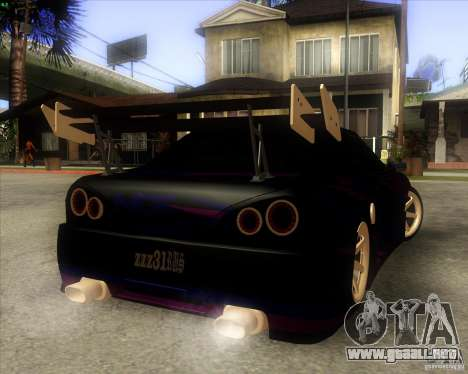 Elegy 0.2 para GTA San Andreas vista hacia atrás