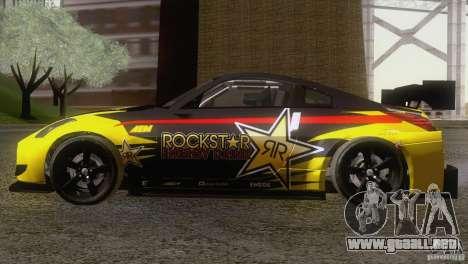 Nissan 350Z Rockstar para GTA San Andreas vista posterior izquierda