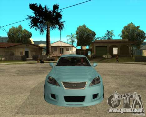 2007 Lexus IS350 para GTA San Andreas vista hacia atrás
