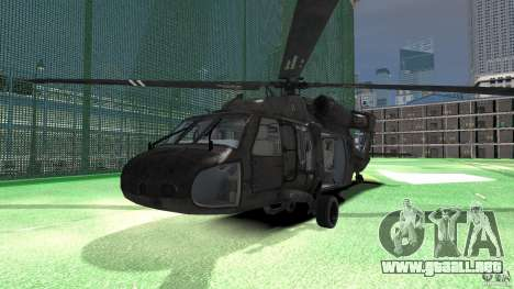 Sikorsky UH-60 Black Hawk para GTA 4 left