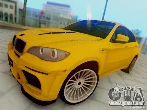 BMW X6 Hamann para visión interna GTA San Andreas
