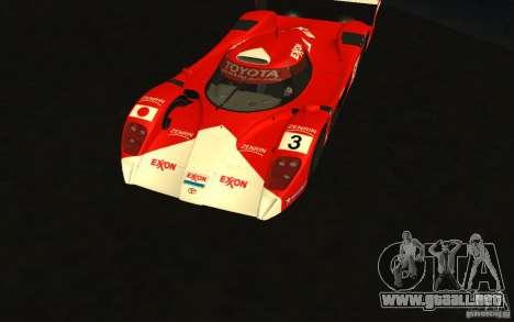 Toyota GT-One TS020 para visión interna GTA San Andreas
