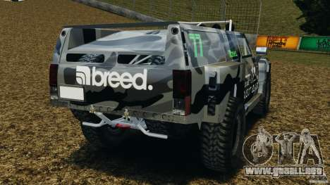 Hummer H3 raid t1 para GTA 4 Vista posterior izquierda