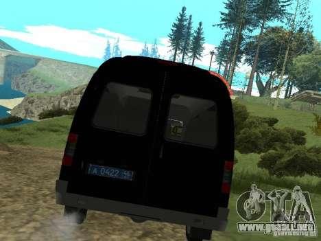 GAZ 2217 FSB para la visión correcta GTA San Andreas