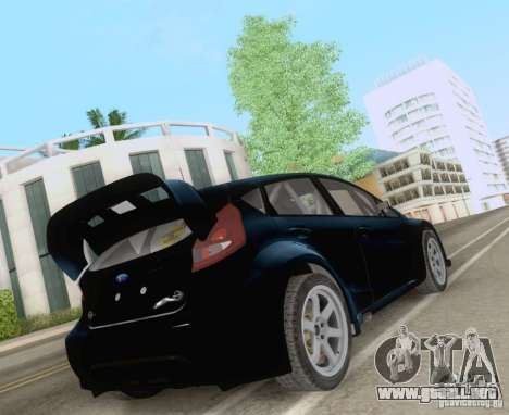 Ford Fiesta para GTA San Andreas vista posterior izquierda
