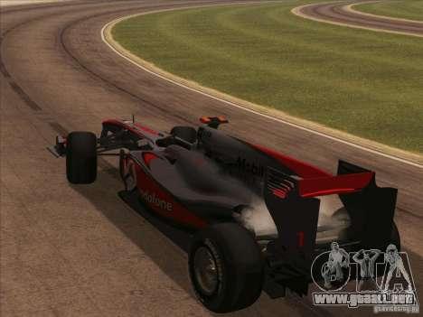 McLaren MP4-25 F1 para visión interna GTA San Andreas