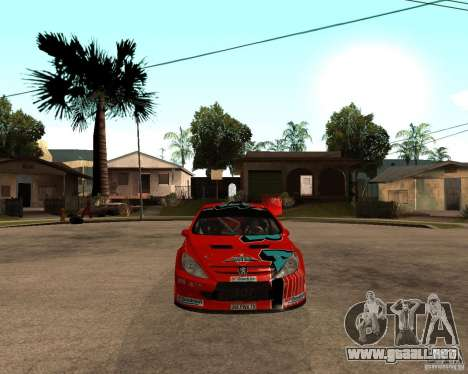 Peugeot 307 WRC para la visión correcta GTA San Andreas