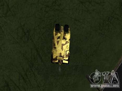 Army Tumbler v2.0 para la visión correcta GTA San Andreas