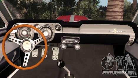 Ford Shelby GT500 para GTA Vice City visión correcta