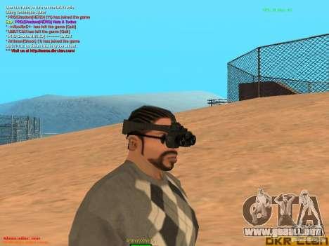 Thermal Goggles para GTA San Andreas segunda pantalla