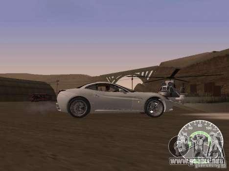 Ferrari California v1 para GTA San Andreas left