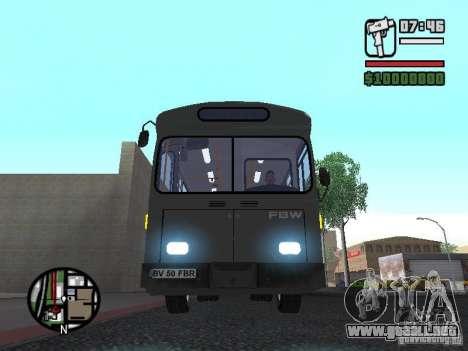 FBW Hess 91U para visión interna GTA San Andreas