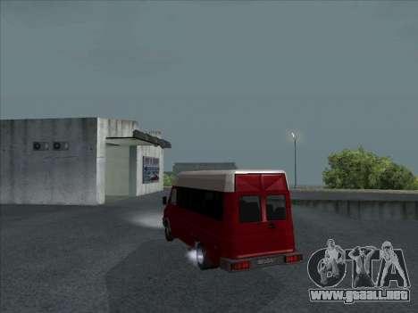 Iveco TurboDaily 35-10 para GTA San Andreas vista posterior izquierda