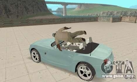 BMW Z4 Roadster 2006 para visión interna GTA San Andreas