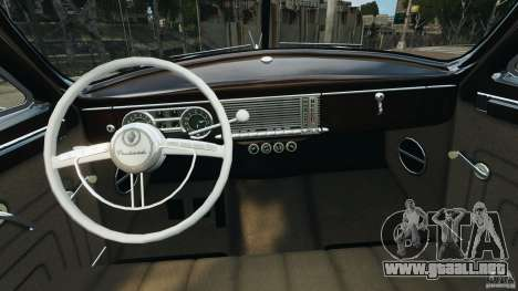 Packard Eight 1948 para GTA 4 vista interior