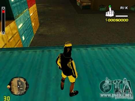 Piel vago v3 para GTA San Andreas sucesivamente de pantalla