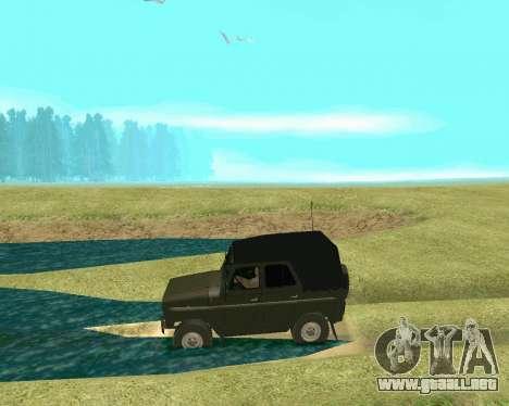 UAZ 31512 para GTA San Andreas vista hacia atrás