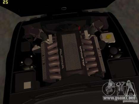 BMW E34 Alpina B10 Bi-Turbo para la vista superior GTA San Andreas