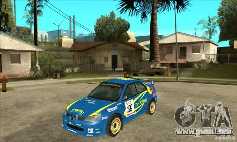 Subaru Impreza STi WRC wht2 para GTA San Andreas vista posterior izquierda