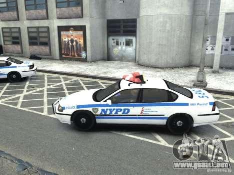 Chevrolet Impala NYCPD POLICE 2003 para GTA 4 left