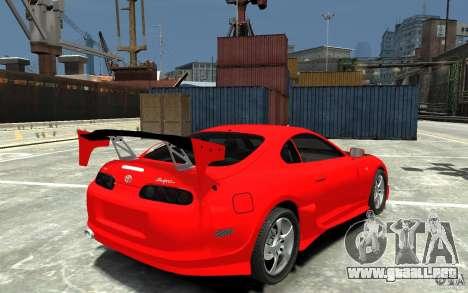 Toyota Supra Black Tuning para GTA 4 visión correcta