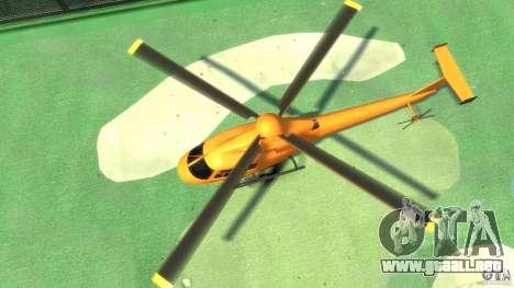 Helicopter From NFS Undercover para GTA 4 vista hacia atrás