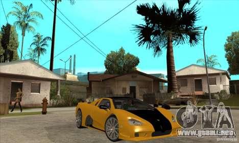 SSC Ultimate Aero FM3 version para GTA San Andreas vista hacia atrás