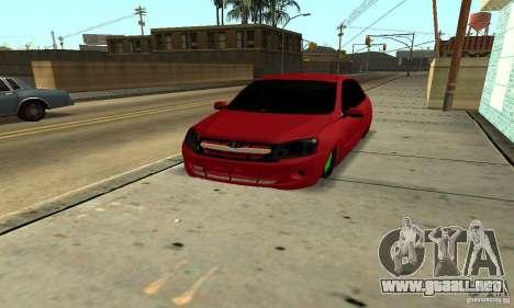Lada Granta Dag Style para GTA San Andreas vista hacia atrás