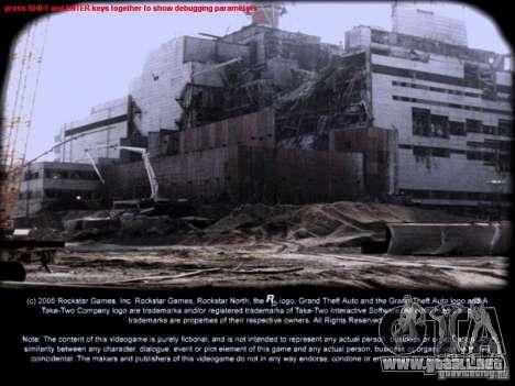 Pantallas de carga Chernobyl para GTA San Andreas segunda pantalla