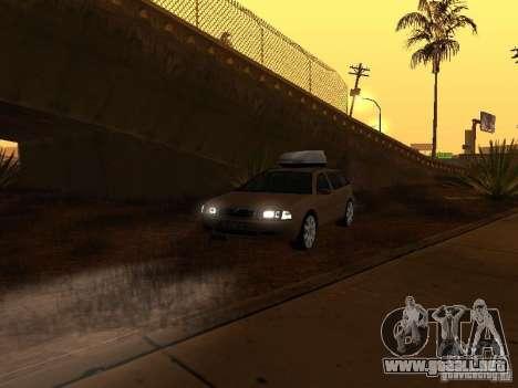 Skoda Octavia para GTA San Andreas interior