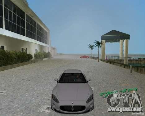 Maserati  GranTurismo para GTA Vice City vista lateral izquierdo