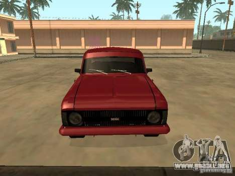 AZLK 412 IE para GTA San Andreas vista posterior izquierda